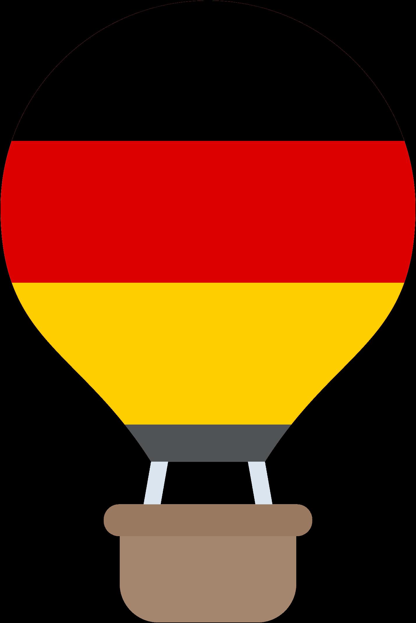 hőlégballon német zászlós, német nyelvű gyerekműsor