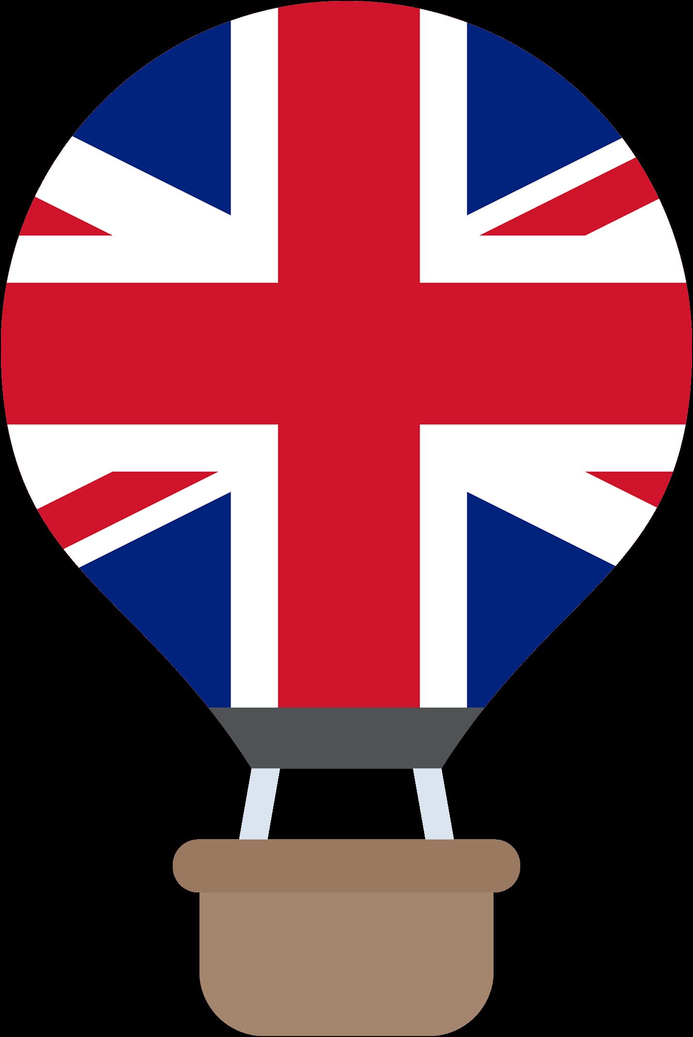 hőlégballon brit zászlós angol nyelvű gyerekműsor