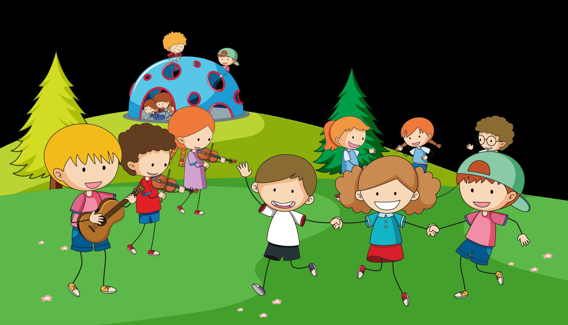 gyerekek játszanak a mezőn